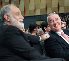 Left: outgoing president Giuseppe Cornaglia and ingoing president Gunnar Kahlmeter at the Opening Ceremony